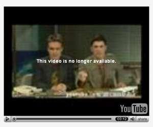 Uno dei video rimossi