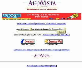 Altavista nel 1996 - da Web Archive