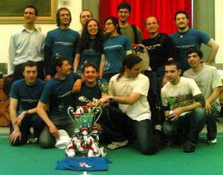 Il team dei vincitori