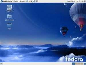 Screenshot di Fedora