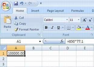 Bug Excel