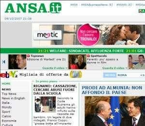 Il sito dell'ANSA