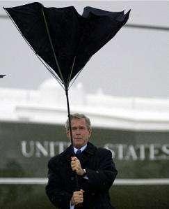 George Bush, leggi ombrello a rischio