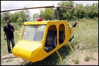 L'elicottero fatto di rottami