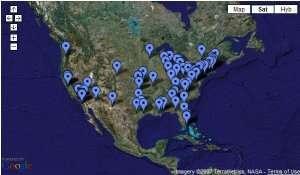 La mappa degli stanziamenti