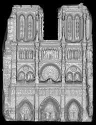 La facciata di Notre Dame ricostruita con Photo Tourist