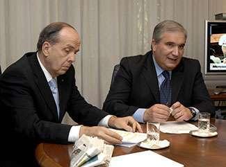 Il ministro Fioroni e il vicepresidente Microsoft Umberto Paolucci