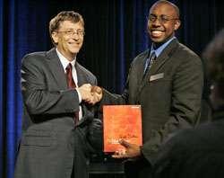 Gates e il rappresentante di NSBE