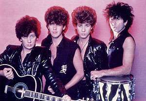 La band nei favolosi anni ottanta
