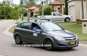 La macchina di Google avvistata in Australia