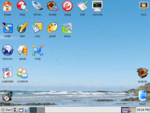 Il desktop del sistema