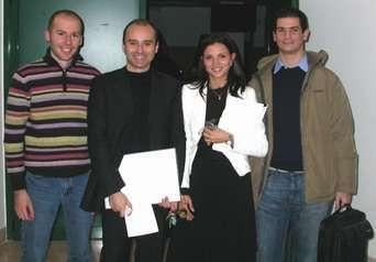 da sinistra Enrico Vicentini, Roberto Giacobazzi, Mila Dalla Preda e Alessandro Brunelli