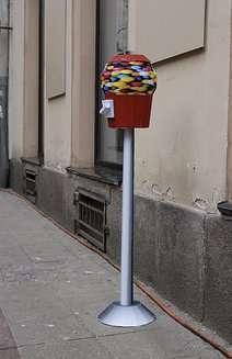 Metadistributori di gomme per le strade di Linz