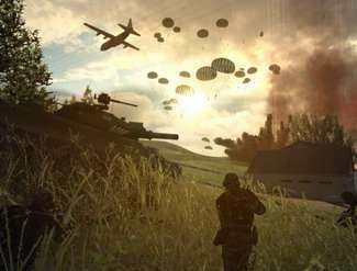 una scena di guerra
