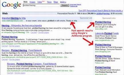 Un esempio di paid search