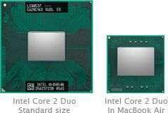 Il processore del MacBook Air a confronto con un Core 2 Duo standard - Fonte: anandtech.com