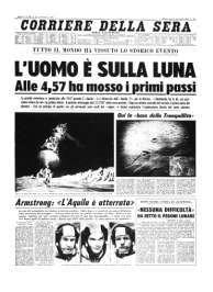Prima pagina storica del Corriere