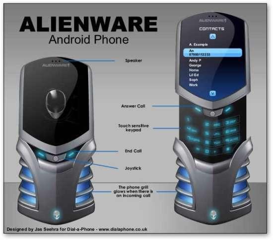 Il prototipo Alienware Android