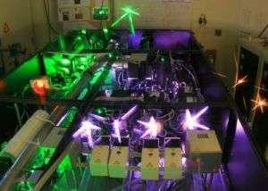 Gli amplificatori del nuovo laser denominato Hercules