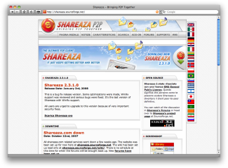 Shareaza su Sourceforge