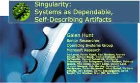 Microsoft Singularity