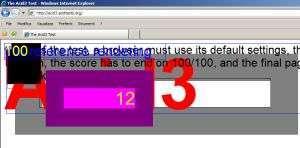 Test Acid3 con IE7 e Windows XP SP2