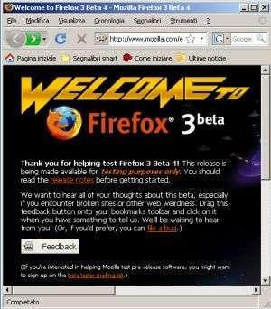 Firefox 3: fuori la Beta 4, pronta la 5