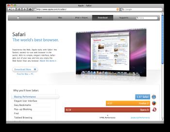 Vuoi iTunes? Beccati Safari!