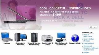 La home page di Dell