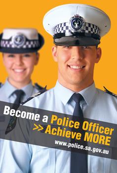 Reclutamento tramite banner per la South Australia Police