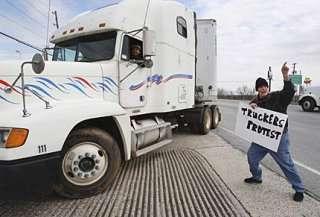 Camionisti in sciopero