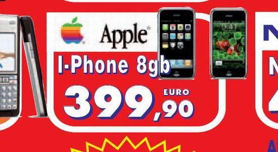 la pubblicità dell'iPhone