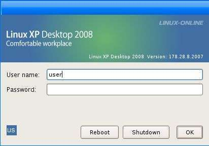 Linux XP Desktop 2008