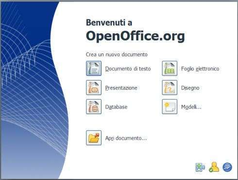 StartCenter di OpenOffice 3.0 Beta 1