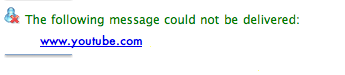 il messaggio di blocco