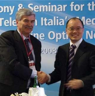 John Qiao e Francesco Nanotti, rispettivamente a capo di Huawei in Italia e di MedNautilus