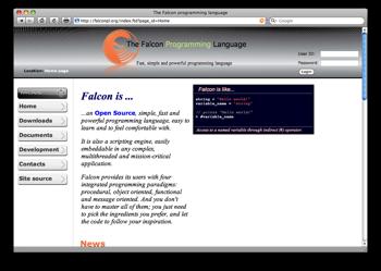 Il sito di Falcon, tutto scritto con il nuovo linguaggio di programmazione