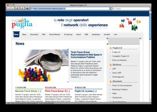 La home page del portale Puglia 2.0