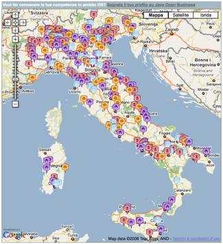 La mappa delle competenze Java realizzata dal TeDIS