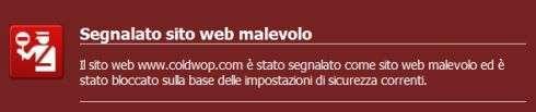 Avviso di Firefox 3