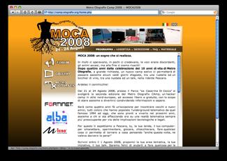 Il sito di MOCA2008