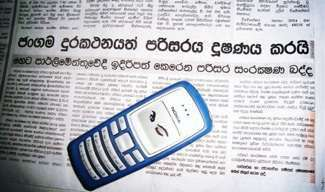 un cellulare in Sri Lanka