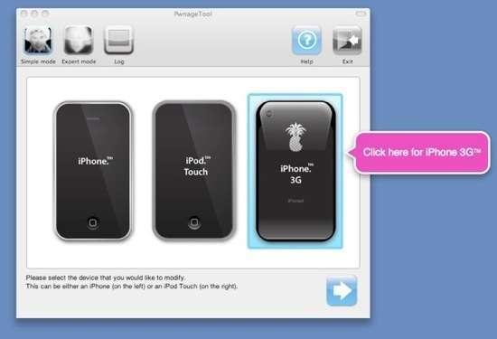 Una schermata di Pwnage Tool
