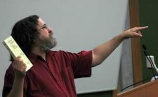 Richard Stallman tiene una lezione universitaria