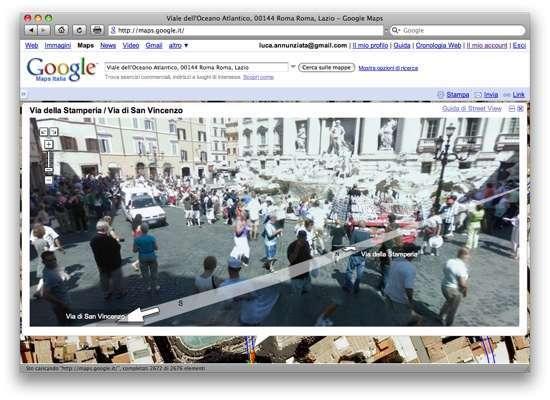 Una veduta del centro di Roma