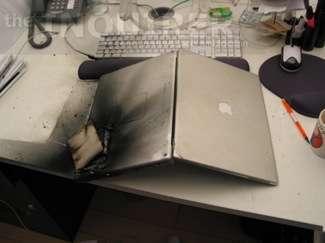 Il PowerBook combusto