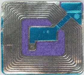 Blue and Purple RFID tag - midnightcomm