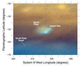 Il sito dove sarebbe caduta la cometa