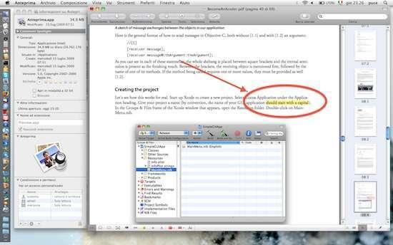 annotazioni all'interno di PDF con anteprima di snow leopard