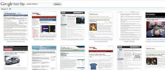 uno screenshot del servizio